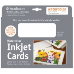 "Strathmore® 5"" x 7"" Watercolor Inkjet Cards: White/Ivory, Envelope Included, Card, 8 Cards, 5"" x 7"", Watercolor, 90 lb"
