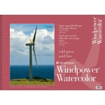 "Strathmore® Windpower™ 18"" x 24"" Cold Press Wire Bound Watercolor Pad: Wire Bound, White/Ivory, Pad, 15 Sheets, 18"" x 24"", Cold Press, 140 lb, (model ST640-18), price per 15 Sheets pad"