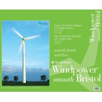 "Strathmore® Windpower™ 19 x 24 Smooth Tape Bound Bristol Pad: Tape Bound, White/Ivory, Pad, 15 Sheets, 19"" x 24"", Smooth, 100 lb, (model ST642-19), price per 15 Sheets pad"