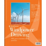 "Strathmore® Windpower™ 9"" x 12"" Medium Surface Wire Bound Drawing Pad: Wire Bound, White/Ivory, Pad, 30 Sheets, 9"" x 12"", Medium, 80 lb"