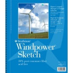 "Strathmore® Windpower™ 9"" x 12"" Wire Bound Sketch Pad: Wire Bound, White/Ivory, Pad, 70 Sheets, 9"" x 12"", 60 lb"