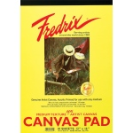 "Fredrix® 10"" x 12"" White Canvas Pad: White/Ivory, Pad, 10"" x 12"", (model T3496), price per pad"
