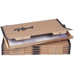 "Safco® Art & Drawing Portfolio 1-1/2 x 38-1/2 x 24-3/4: Brown, Paper, 24 3/4""l x 38 1/2""w x 1 1/2""h, (model 3008F), price per box"