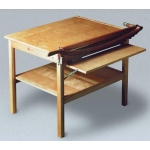 "Ingento ClassicCut 30"" Maple Series Trimmer Table Mounted Cutter with Guard Rail"