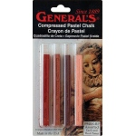General's® Compressed Earth Tone Pastel Chalk Sticks: Red/Pink, Stick, (model 940ABP), price per pack