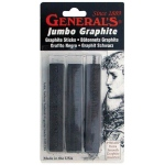 General's® Jumbo Graphite Sticks: Black/Gray, Stick, Drawing Lead, (model 980ABP), price per pack