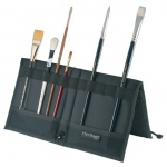 "Heritage Arts™ Brush & Tool Holder 12 3/4"" x 13 1/2"": 10 Slots, Black/Gray, Nylon, 12 3/4"" x 13 1/2"", Brush and Tool Holder"