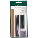 Faber-Castell® PITT® Charcoal Set: Black/Gray, Pencil, Stick, (model FC112996), price per set
