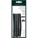 Faber-Castell® Natural Willow Charcoal Stick 4-Pack: Black/Gray, Stick, 7 mm - 15 mm, Willow, (model FC129498), price per pack