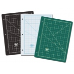 "Alvin® GBM Series Green/Black Professional Self-Healing Cutting Mat For 3-Ring Binders: Black/Gray, Green, Grid, Vinyl, 8 1/2"" x 11"", 3mm, Cutting Mat"