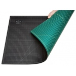 "Alvin® GBM Series 8 1/2"" x 11"" Green/Black Professional Self-Healing Cutting Mat: Black/Gray, Green, Grid, Vinyl, 8 1/2"" x 12"", 3mm, Cutting Mat"