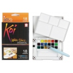 Koi™ Watercolor Paint Pocket Field Sketch 18-Color Set: Multi, Pan, Watercolor