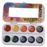 Yarka® 10-Color Watercolor Paint Set: Multi, Pan, Watercolor, (model YK38010), price per set
