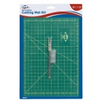 "Alvin® Self-Healing Cutting Mat Kit 8 1/2 x 12: Black/Gray, Green, Grid, Vinyl, 8 1/2"" x 12"", 3mm, Cutting Mat"