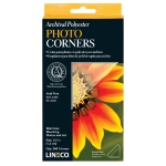 Lineco® Archival Polyester Photo Corners: Clear, Mylar, 240-Pack, (model L5330020), price per 240-Pack