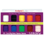 Sculpey® III Polymer Clay Multipack Classic: Multi, Bar, Polymer, 10-Pack, 2 oz, (model SMP00001), price per set