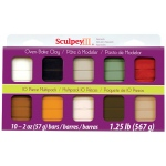 Sculpey® III Polymer Clay Multipack Natural: Multi, Bar, Polymer, 10-Pack, 2 oz
