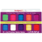 Sculpey® III Polymer Clay Multipack Bright: Multi, Bar, Polymer, 10-Pack, 2 oz, (model S3MP05001), price per set