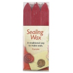 Manuscript Sealing Gun Wax Red: Red/Pink, Wax Stick, (model MSH7603RW), price per pack