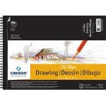 "Canson® Mi-Teintes® Artist Series Artist Series Wire-Bound Drawing Pads 12""x16"": Wire Bound, White/Ivory, Pad, 12"" x 16"", 98 lb, (model C200006192), price per pad"