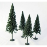 "Wee Scapes™ Architectural Model Pine Trees 4-Pack: Green, Wire, 4-Pack, 3 1/2"" - 5"", Tree, (model WS00327), price per 4-Pack"