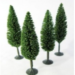 "Wee Scapes™ Architectural Model Poplar Trees 4-Pack: Green, Wire, 4-Pack, 3 1/2"" - 4"", Tree, (model WS00328), price per 4-Pack"
