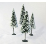 "Wee Scapes™ Architectural Model Trees Snow Spruce: Green, Wire, 4-Pack, 3 1/2"" - 5"", Tree, (model WS00330), price per 4-Pack"