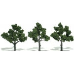 "Woodland Scenics 4""-5"" Ready Made Tree Value Pack Medium Green"