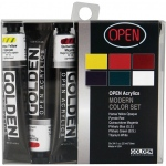 Golden® OPEN Acrylic Introductory Set: Multi, Tube, 22 ml, Acrylic, (model 0000044-0), price per set