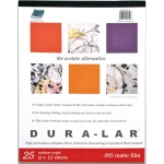 "Grafix® Dura-lar™ 9"" x 12"" Matte Film: Matte, Pad, 25 Sheets, 9"" x 12"", .005"", Film, (model DM0912), price per 25 Sheets pad"