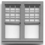 "1/4"" Scale Architectural Components: Queen Anne Double Window, Set of 4"