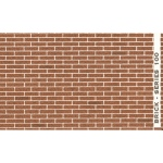 "Architectural Model-Building Material: Brick/Brown, 6"" x 18"" Sheet"