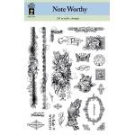 Hot Off the Press Clear Acrylic Stamp Set Noteworthy: No