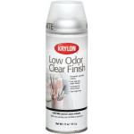 Krylon® Low Odor Clear Finish Spray Matte: 10.25 oz, Repositionable, (model K7120), price per each