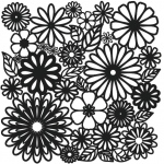"The Crafter's Workshop 6"" x 6"" Design Template Flower Frenzy: 6"" x 6"", Patterned Stencil, (model TCW157S), price per each"