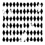 "The Crafter's Workshop 6"" x 6"" Design Template Harlequin: 6"" x 6"", Patterned Stencil, (model TCW202S), price per each"