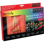 Reeves™ Mini Scraperfoil™ Rainbow Foil Gift Set: Multi, (model PPRSAMGIFT), price per set