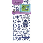 "Dazzles™ Stickers Robot/Rocketship: Blue, 4"" x 9"", Flat, (model HOTP1907), price per each"