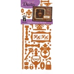 "Dazzles™ Stickers Hardware Copper: Metallic, 4"" x 9"", Flat, (model HOTP1913), price per each"