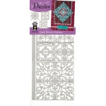 "Dazzles™ Stickers Quilt Blocks Silver: Metallic, 4"" x 9"", Flat, (model HOTP1915), price per each"