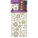 Dazzles Stickers Buttons Silver