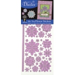 "Dazzles™ Mixems Outline Sticker Pack Flowers: Purple, 4"" x 9"", Flat, (model HOTP1919), price per set"