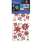 "Dazzles™ Mixems Outline Sticker Pack Pinwheels: Red/Pink, 4"" x 9"", Flat, (model HOTP1920), price per set"