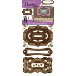Dazzles Stickers Nested Frames Brown