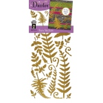 "Dazzles™ Stickers Gold Fern: Metallic, 4"" x 9"", Outline, (model HOTP2111), price per each"