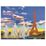 "Reeves™ Large Painting by Number Eiffel Tower: 12"" x 15 1/2"", (model PL93), price per each"