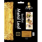 "Mona Lisa™ Metal Leaf™ Gold Sheets: Metallic, Sheet, 25 Sheets, 5 1/2"" x 5 1/2"", (model ML10204), price per 25 Sheets"