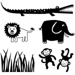 My First ColorBox® Mini Stamp Jungle Set: No, Stamp, (model CS68202), price per each