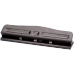 Alvin® 3-Hole Paper Punch: 12 Sheets, Three, Two, (model 00780), price per each