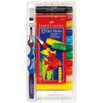 Faber-Castell® Gel Sticks 12-Color Set with Brush: Multi, Stick, (model FC14543), price per set